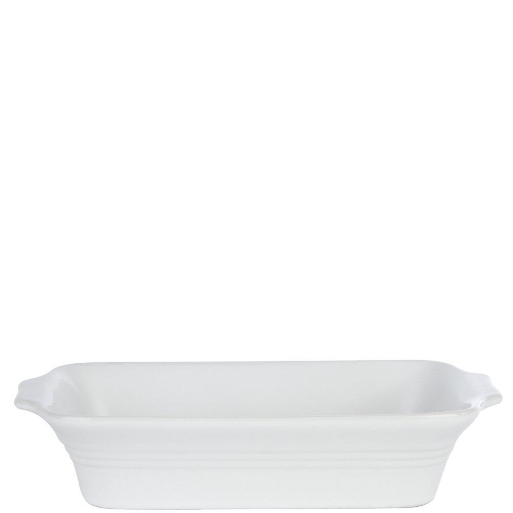 White Rectangular Eared Baking Dish