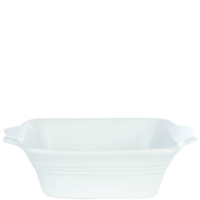 White Square Eared Baking Dish