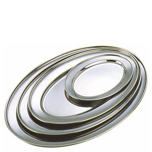 Stainless Steel Oval Meat Flat