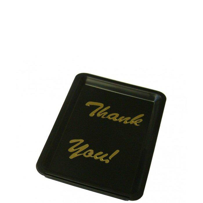 Black Thank You Tip Tray