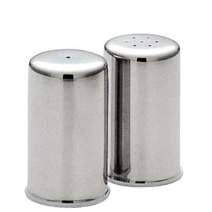 Straight Sided Salt & Pepper Condiment Set Stainless Steel