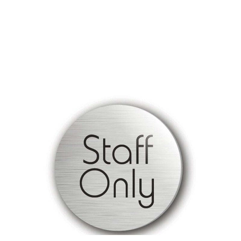 Door Disc Staff Only Silver