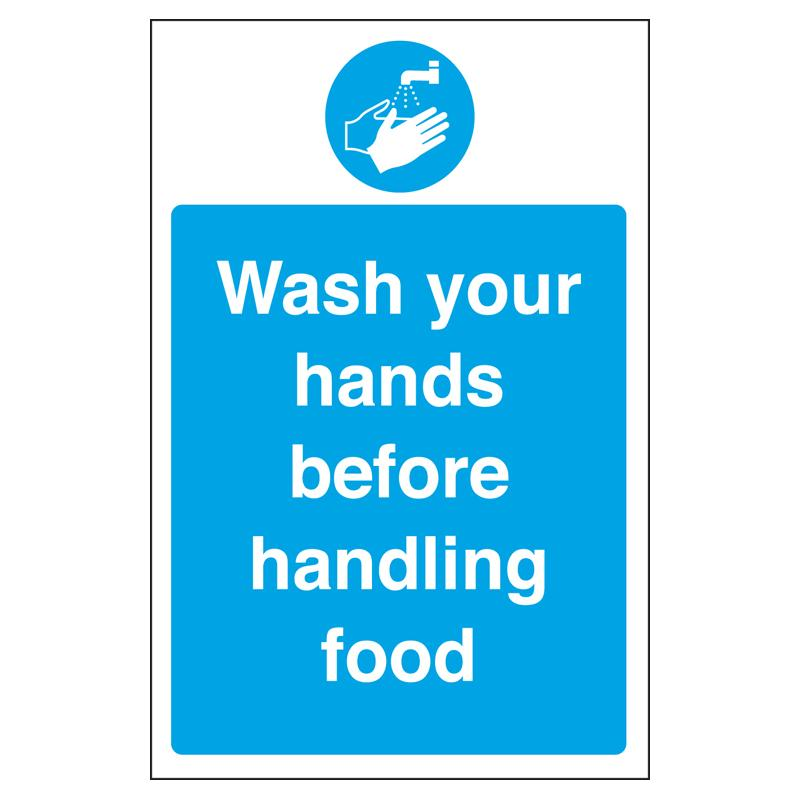 Sign - Wash Your Hands Before Handling Food