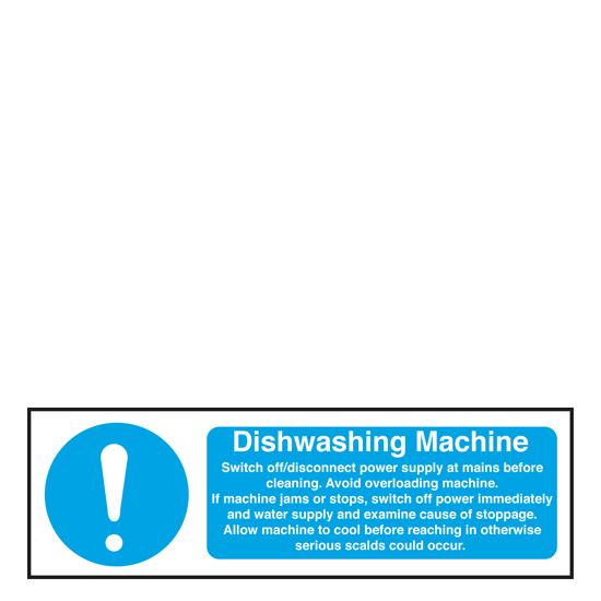 Sign - Dishwashing Machine Safety