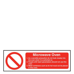 Sign - Microwave Oven Safety
