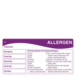 DayMark Removable Allergen Storage Label