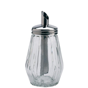 Glass Sugar Pourer with Mirror Finish Screw Top
