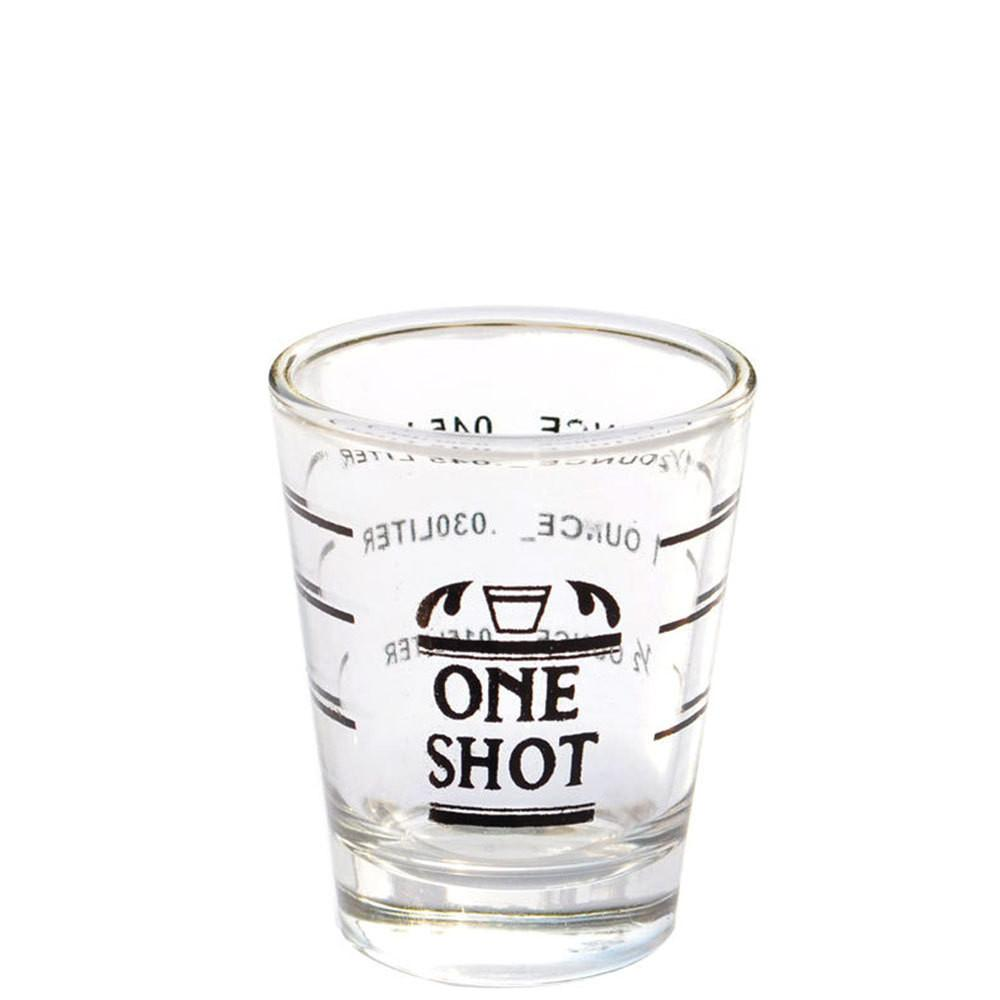 Lined Coffee Shot Glass