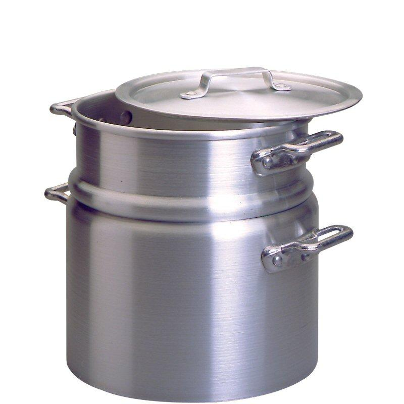 Medium Duty Aluminium Double Boiler with Lid