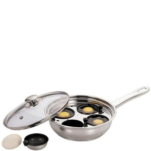 Stainless Steel Egg Poacher 4 Cup