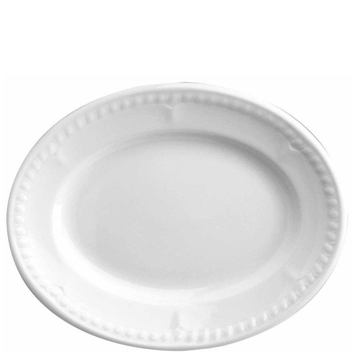 Churchill Buckingham White Oval Plate