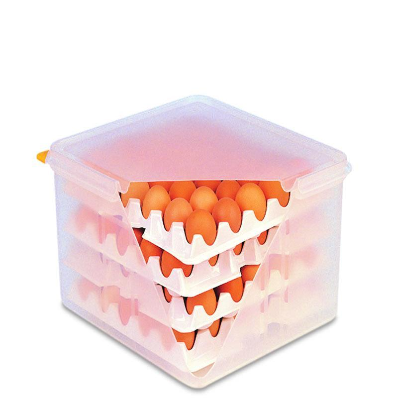 Araven Egg Container with Egg Trays & Lid
