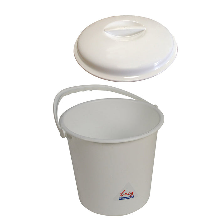 Bucket with Lid White