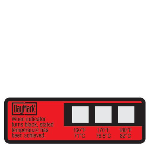 DayMark Thermostrip Dishwasher Triple Temperature Label