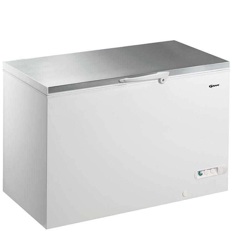 Gram 447 litre Chest Freezer CF45S with Stainless Steel Worktop