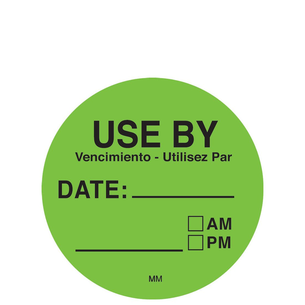 DayMark Removable Use First Round Label