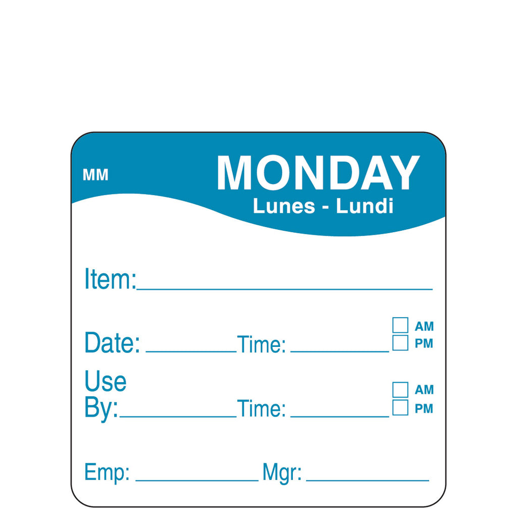 DayMark Removable Use By Label - Day of the Week