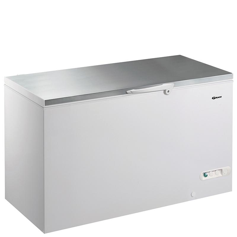 Gram 527 litre Chest Freezer CF53S with Stainless Steel Worktop