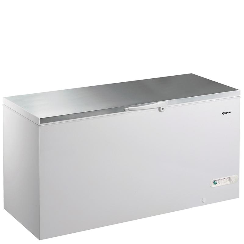 Gram 607 litre Chest Freezer CF61S with Stainless Steel Worktop