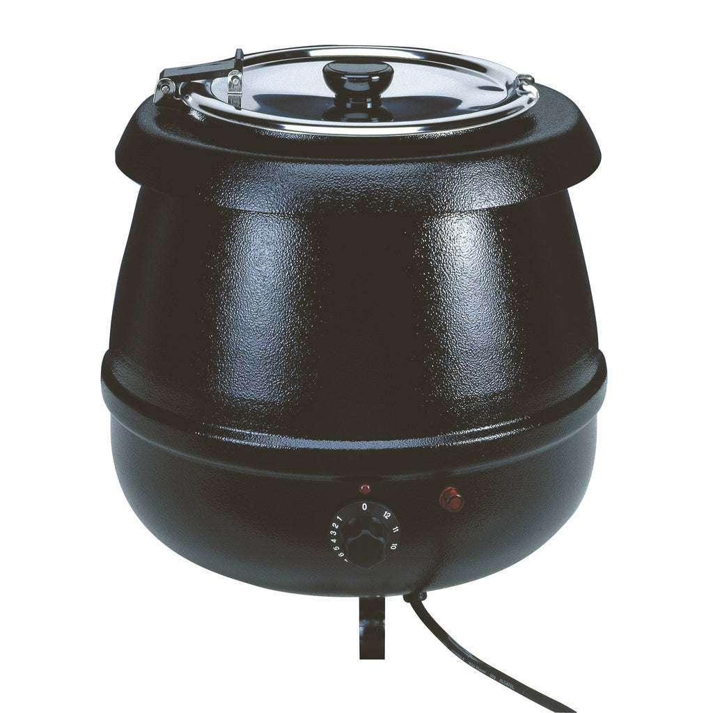 10 litre Soup Kettle in Black
