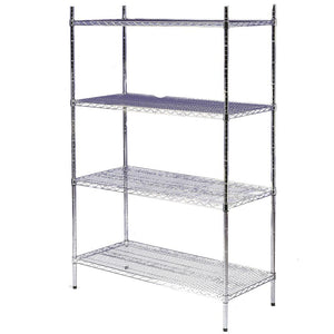 Nylon 4 Tier Wire Shelving Unit