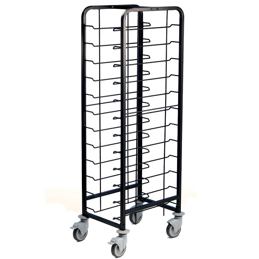 Tray Clearing Trolley 12 Tier Black