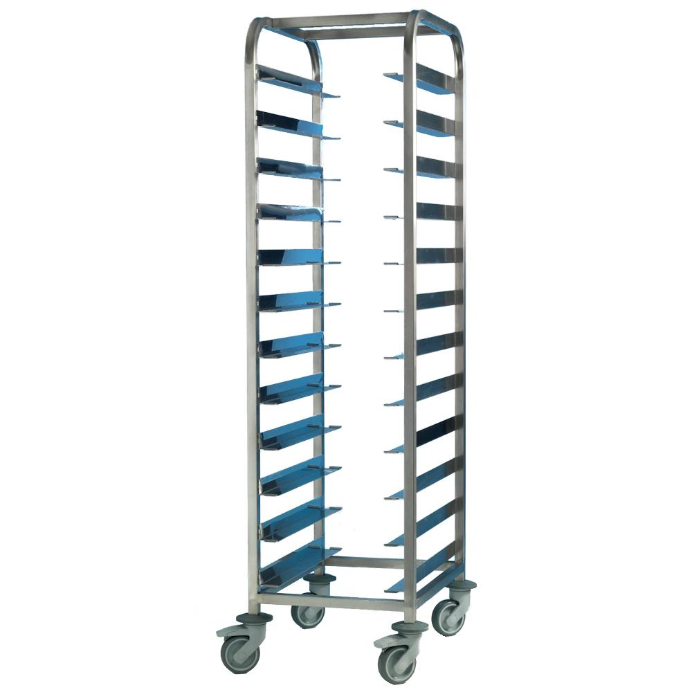 Tray Clearing Trolley 10 Tier Stainless Steel