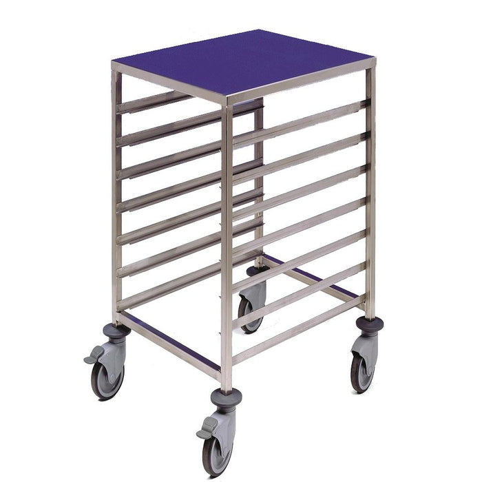 1/1 Gastronorm Trolley 7 Tier with Worktop Stainless Steel