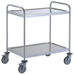 General Purpose Trolley Large 2 Tier Stainless Steel