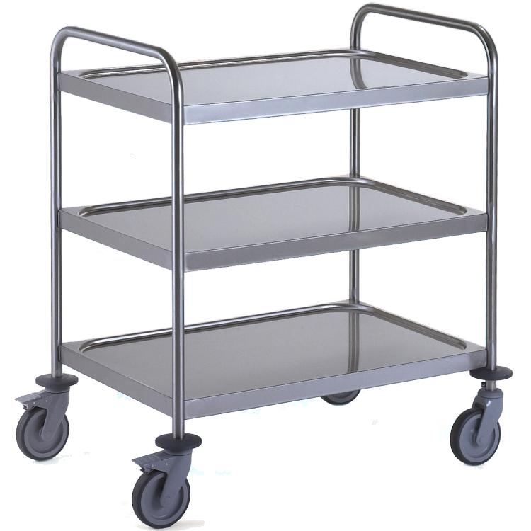 General Purpose Trolley Medium 3 Tier Stainless Steel