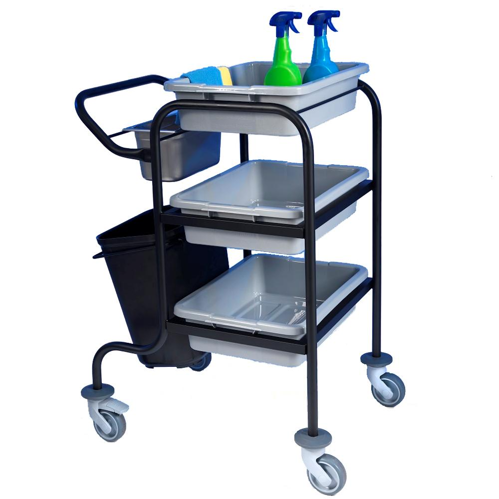 Bussing Cart 3 Tier Black