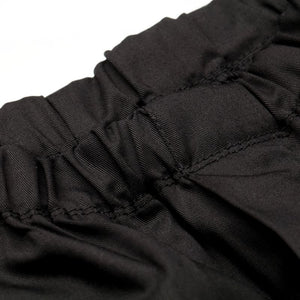 Tibard Elasticated Black Chefs Combat Trousers