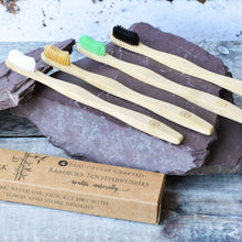 Load image into Gallery viewer, Natural Bamboo Toothbrushes (4 pack)