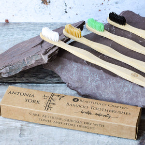 Natural Bamboo Toothbrushes (4 pack)