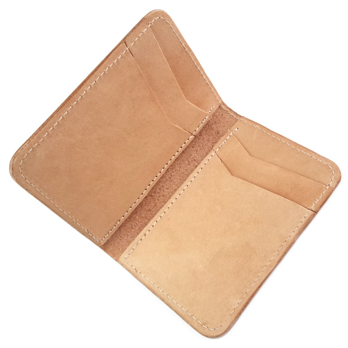 Mosi Minimalist Vertical Leather Wallet