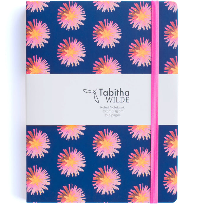 Tabitha Wilde Flower Notebook with Pocket