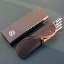Load image into Gallery viewer, Mosi Genuine Saddle Leather Glasses & Pencil Case
