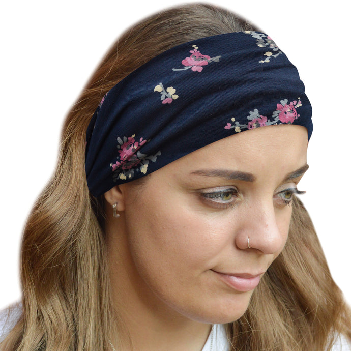 Lucca Organic Cotton Wide Stretch Jersey Headband