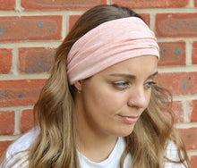 Load image into Gallery viewer, Capri Rose Melange Cotton Wide Stretchy Jersey Headband