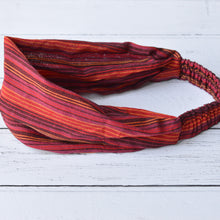 Load image into Gallery viewer, Ziggy Unisex Red Striped Cotton Bandana