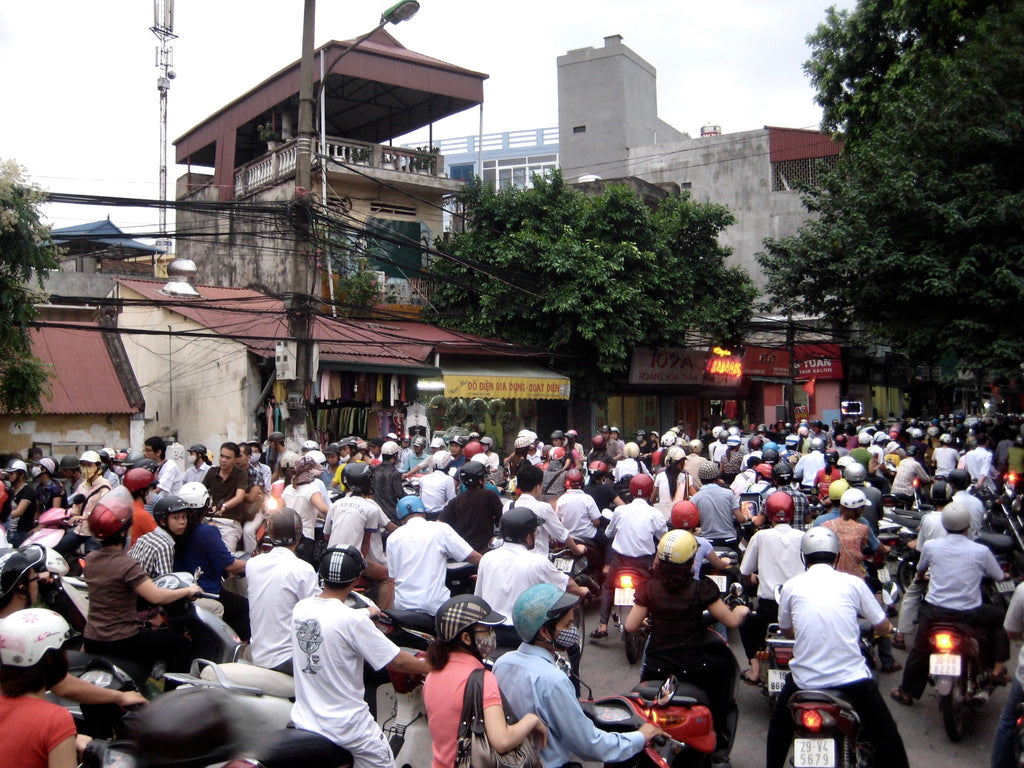 Hanoi, so many motorbikes on the road