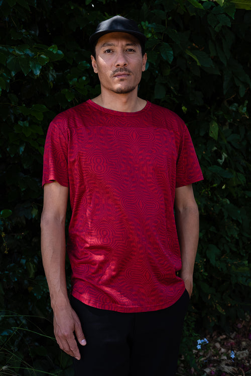 Acacia T-Shirt (red moiré)