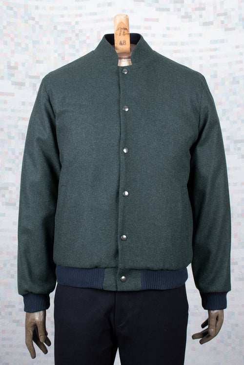 green wool flight jacket A.D.Deertz
