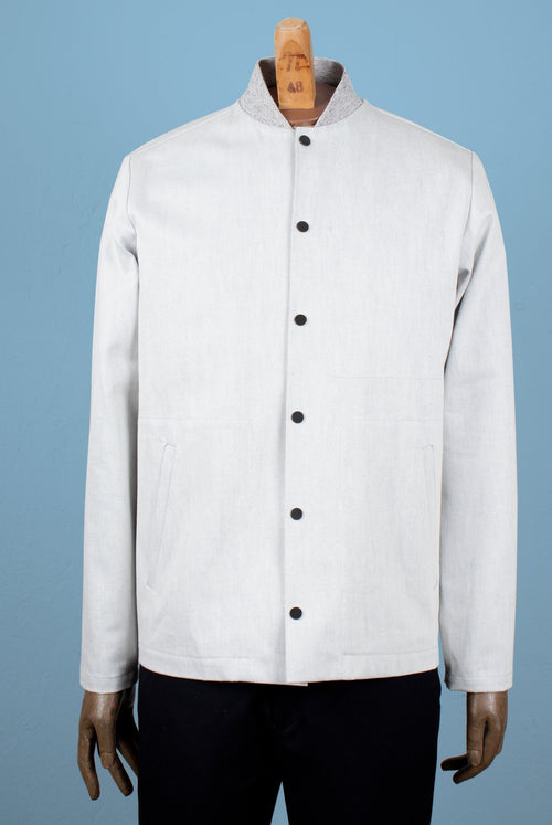 A.D.Deertz coach jacket with rib collar in light grey