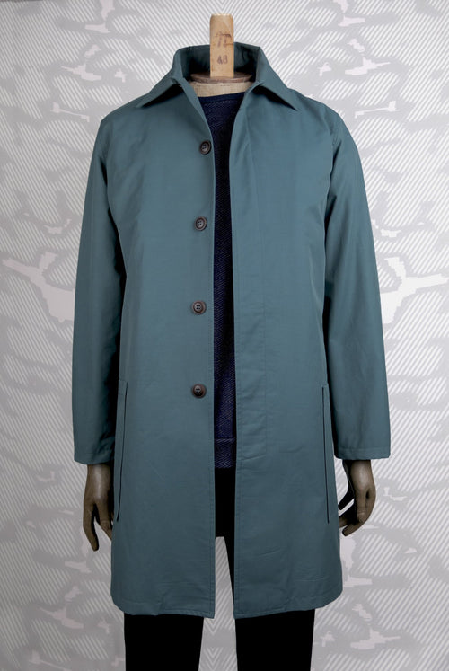 A.D.Deertz Mac Coat in teal light cotton