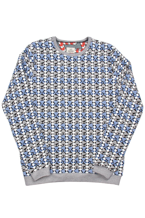 Poplar Sweater (Blue Geo)