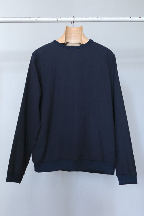 addeertz Regular fit sweatshirt made from a linen and cotton blend navy