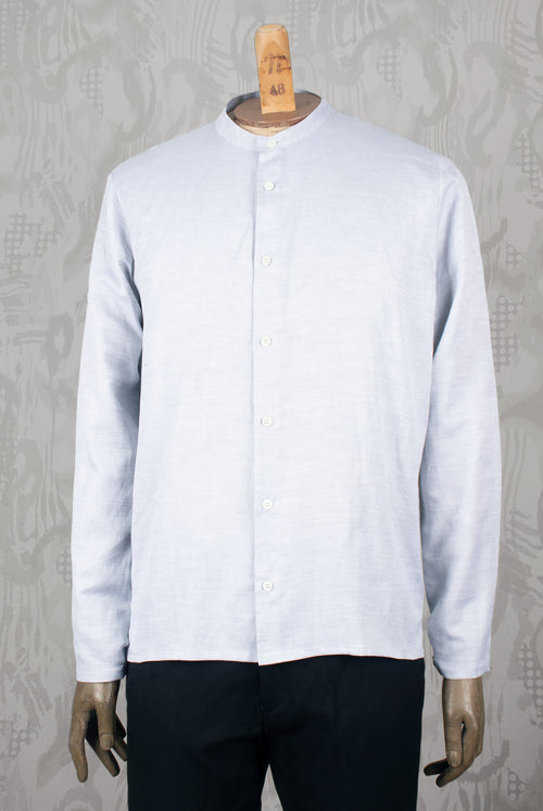 ADDeertz light grey linen Shirt with band collar