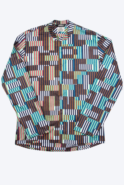 Yucca Shirt (White Brown Green)