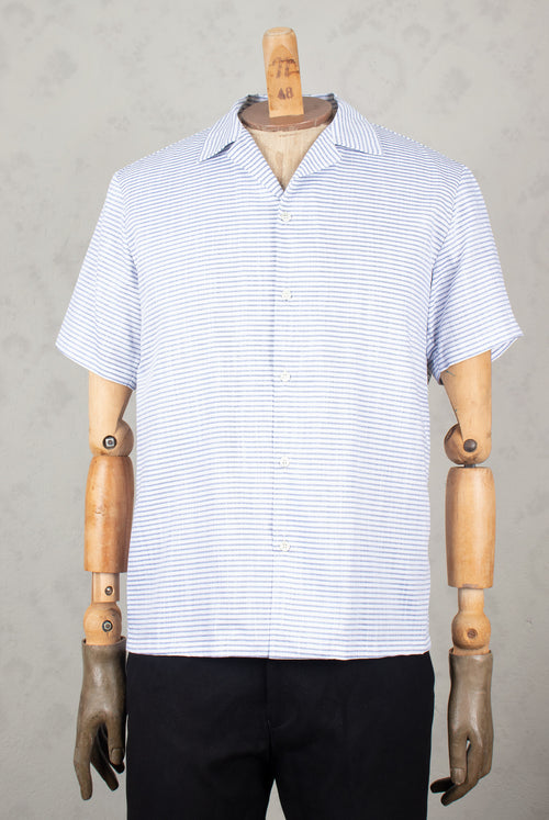 ADDeertz Short sleeve shirt with spread collar and mother of pearl buttons